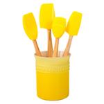 Le Creuset Craft Series Soleil 5-Piece Utensil and Crock Set