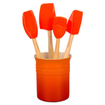 Le Creuset Craft Series Flame 5-Piece Utensil and Crock Set