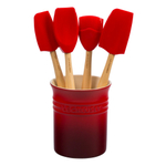 Le Creuset Craft Series Cerise 5-Piece Utensil and Crock Set