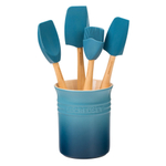 Le Creuset Craft Series Marine 5-Piece Utensil and Crock Set