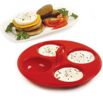 Norpro Red Silicone 4 Egg Poacher Tray