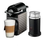 Breville Nespresso Original Line Pixie Titan Espresso Maker Bundle with Aeroccino Milk Frother