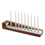 Nambe Geo Wood and Alloy Menorah