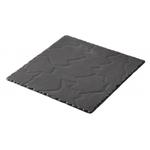 Revol Basalt Slate Porcelain 9.75 Inch Square Serving Plate