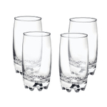 Bormioli Rocco Galassia Clear 14 Ounce Long Drink Beverage Glass, Set of 4