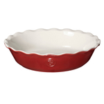 Emile Henry Rouge Ceramic 9 Inch Pie Dish