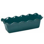 Emile Henry Blue Flame Ceramic 2.1 Quart Large Ruffled Loaf Dish