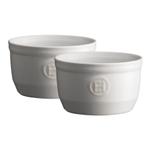 Emile Henry Flour Ceramic 8.5 Ounce #10 Ramekin, Set of 2