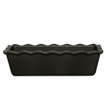 Emile Henry Charcoal Ceramic 1.4 Quart Small Ruffled Loaf Dish