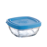 Duralex Lys Tempered Glass 36 Ounce Square Bowl with Lid