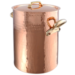 Mauviel M'Tadition Copper 13.8 Quart Soup Pot