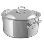 Mauviel M'Cook Multi-Ply Stainless Steel 6.3 Quart Stew Pan with Lid