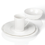 Lenox Entertain 365 Sculpture Porcelain Mixed Round 4-Piece Dishware Place Setting