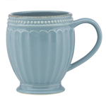 Lenox French Perle Groove Chambray 12 Ounce Coffee Mug
