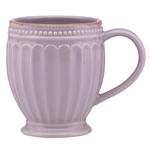 Lenox French Perle Groove Violet 12 Ounce Coffee Mug