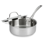 Calphalon Tri-Ply Stainless Steel 2.5 Quart Shallow Sauce Pan and Cover