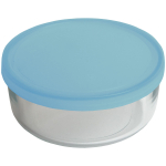 Bormioli Rocco Frigoverre Classic Glass 25.25 Ounce Round Container with Teal Lid