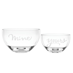 kate spade new york Two of a Kind Mine & Yours 2 Piece Bowl Set