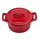 O-Ware Red Stoneware Mini Round Baker with Lid