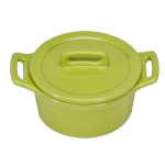 O-Ware Citron Stoneware Mini Round Baker with Lid