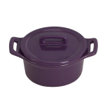O-Ware Violet Stoneware Mini Round Baker with Lid