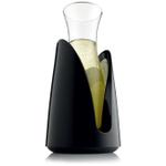 Vacu Vin Black Rapid Ice Cooling Carafe Set
