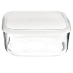 Bormioli Rocco Frigoverre 25.25 Ounce Basic Square Container with Frosted Lid