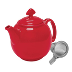 Chantal Tea for Four True Red 1.5 Quart Teapot with Stainless Steel Infuser
