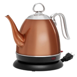 Chantal Mia Ekettle Stainless Steel with Copper Finish 32 Ounce Water Kettle