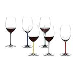 Riedel Fatto A Mano 6 Piece Fine Crystal Cabernet/Merlot Wine Glass Set