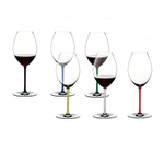Riedel Fatto A Mano 6 Piece Fine Crystal Old World Syrah Wine Glass Set