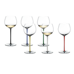 Riedel Fatto A Mano 6 Piece Fine Crystal Oaked Chardonnay Wine Glass Set