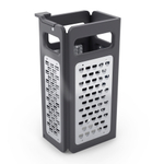 Joseph Joseph Black Fold Flat Grater Plus with 4 Blade Edges