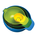 Joseph Joseph Nest Mix 4 Piece Multicolor Mixing Bowl and Prep Set