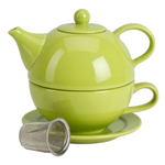 Omniware Citron Ceramic Tea for One with Infuser