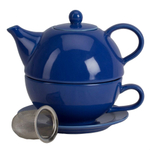 Omniware Simply Blue Ceramic Tea for One with Infuser