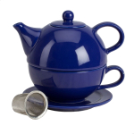 Omniware Cobalt Blue Ceramic Tea for One with Infuser