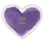 kate spade new york Posy Court Purple Porcelain Small Heart Dish