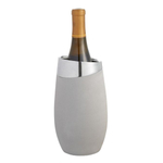 Nambé Forte Alloy and Concrete 8.5 Inch Single Wine Bottle Chiller