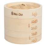 Helen Chen's Asian Kitchen Bamboo 6 Inch 2 Tier Steamer with Lid
