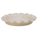 Rose's Levy Beranbaum Wheat Ceramic 9 Inch Perfect Pie Plate