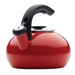 BonJour Red Enamel on Steel 1.5 Quart Teakettle