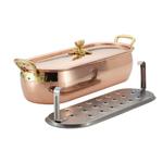 Ruffoni Historia Décor Copper Covered Oval Fish Kettle