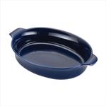 Anolon Vesta Cobalt Blue Stoneware 2 Quart Oval Au Gratin
