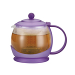 BonJour Glass 42-Ounce Teapot with French Lavender Plastic Frame