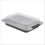 Anolon Advanced Bakeware Gray Steel 9 x 13 Inch Covered Cake Pan