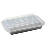 Farberware Bakeware 9 x 13 Inch Rectangular Cake Pan with Plastic Lid