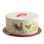 Paula Deen Garden Rooster Cake and Pie Carrier