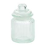 La Porcellana Bianca by Fortessa Tableware Solutions Versilia Ribbed Glass 8.5 Ounce Container