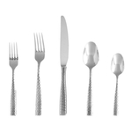 Fortessa Lucca Faceted Stainless Steel 20 Piece Flatware Set